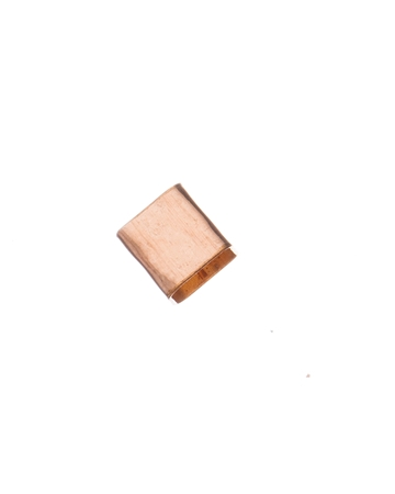 Picture of Rose Gold Filled 5/5mm Hammered Square Tube