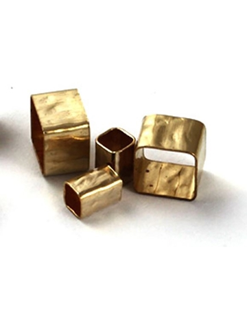Picture of Gold Filled 5/5mm Hammered Square Tube