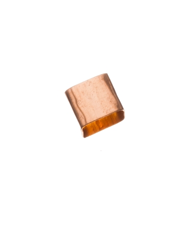 Picture of Rose Gold Filled 6/5mm Hammered Square Tube