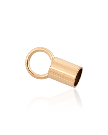 Picture of Gold Filled 2.6mm End cap 4mm Long