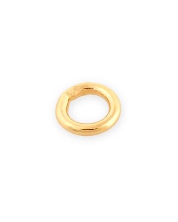 """תמונה של לולאת חיבור זהב 14K צהוב מולחמת קוטר פנימי 2מ""""מ עובי 0.56מ""""מ"""