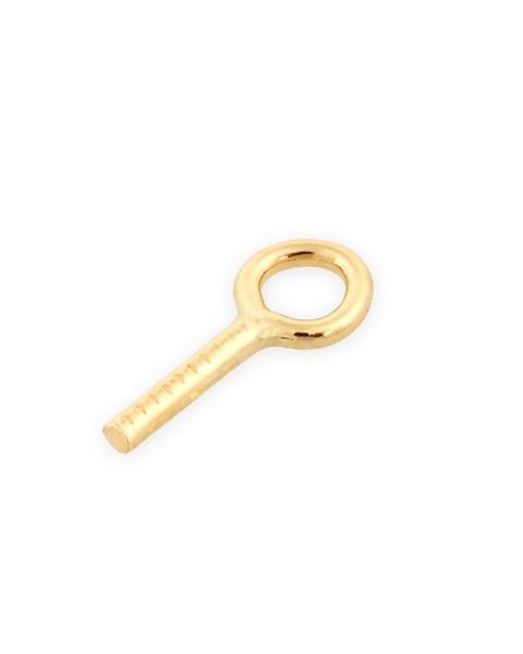 תמונה של 91020-0200-000 מחזיק פנינה עם טבעת 0.027 זהב צהוב  14K