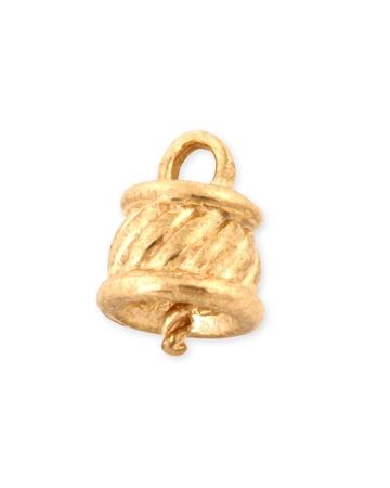 תמונה של מחזיק פנינה זהב 14K צהוב חבית מסובבת 14RM189