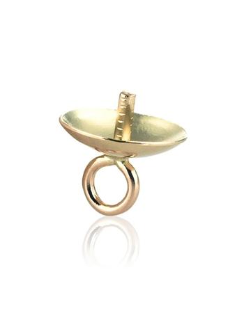 """תמונה של מחזיק פנינה זהב 14K צהוב 5מ""""מ הברגה + לולאה 064DRR00510000"""