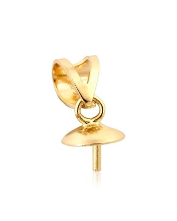 """תמונה של מחזיק פנינה זהב 14K צהוב 5מ""""מ + בייל 97245-02FA-000"""