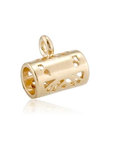 תמונה של מחזיק תליון צינור פיליגרן + לולאה זהב 14K צהוב 35065-0200-000