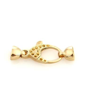 Picture of 18KY large size Fishlock clasp 26mm + 8mm endcups