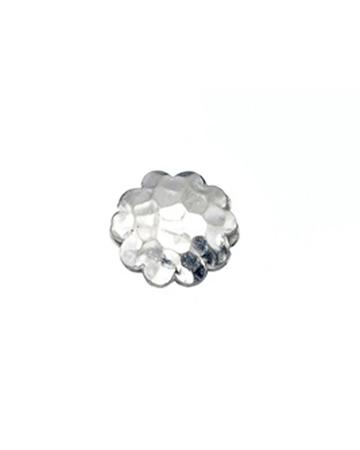 תמונה של פרח כסף 925 בינוני מרוקע ומקומר