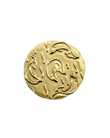 Picture of Gold Filled Dolphin Textured 21 mm Disc