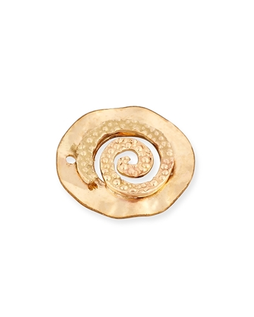 Picture of Gold Filled 12mm Round Disc Decorated With Snail