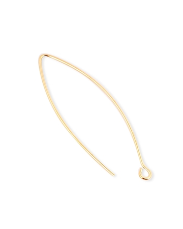 Picture of Gold Filled Eye Shaped Large Ear Wire 0.8mm