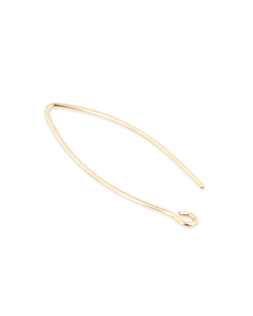 Picture of Gold Filled Small Eye Shaped Ear Wire 0.8mm
