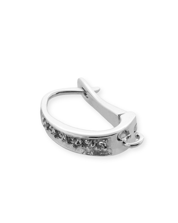 Picture of 14KW 12x3/4pt diamond earrings