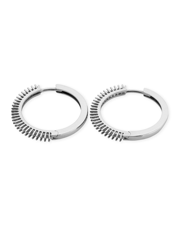 Picture of 18KW Hoop Earring for 12 1pt stones