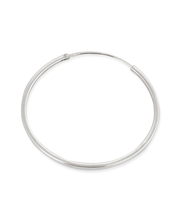 Picture of 40mm Sterling Silver Squear Tube Hoop Earring