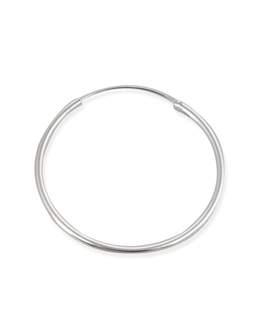 Picture of 35mm Sterling Silver Hoop Tube Earring
