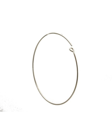 Picture of 38mm Sterling Silver Hoop Wire Earring