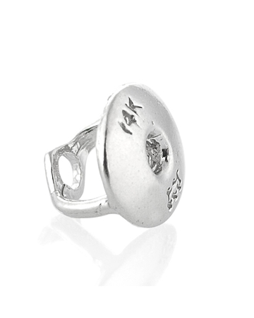 Picture of 14KW Cast Earnut w/ Rhodium 074CTH13400175
