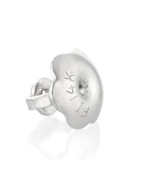 Picture of 14K White Gold Large Thread Earnut For 0.7mm Post