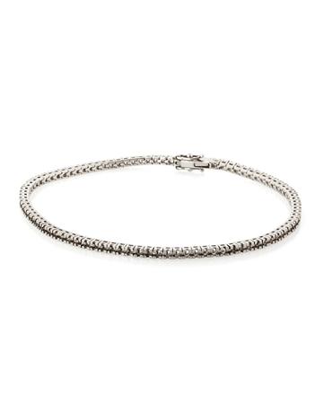 Picture of 18KW Square Tennis Bracelet 18cm long for 1pt round stones
