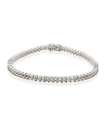 Picture of 18KW Tennis Bracelet 18cm long for 12pt square stones