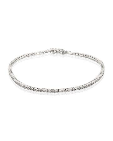 Picture of 18KW LW Tennis Bracelet 18cm long for 1pt round stones