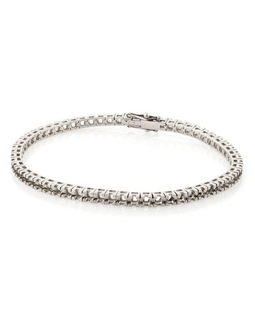 Picture of 18KW Square LW Tennis Bracelet 18cm long for 2pt round stones