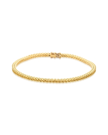 Picture of 18KY Square setting Tennis Bracelet 18cm long for 2pt round stones