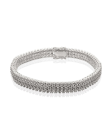 Picture of 18KW 3 Rows Tennis Bracelet 18cm long for 4pt round stones
