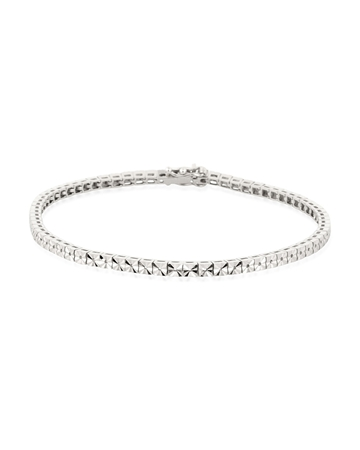 Picture of 18KW Square LW Tennis Bracelet 18cm long for 1pt round stones