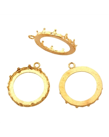 Picture of Brass Bezel Cup 24mm Gallery 1231H Flat Back +Ring