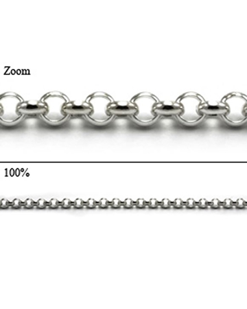 Picture of Sterling Silver 2.8mm Rolo Chain