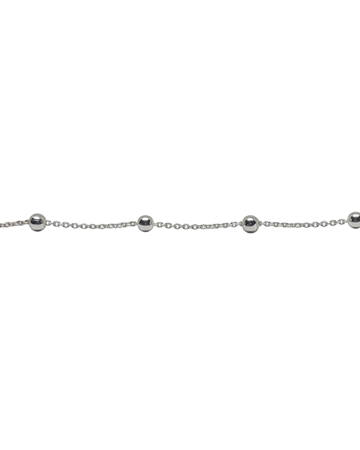Picture of Sterling Silver Rolo +3mm Bead Saturn Chain