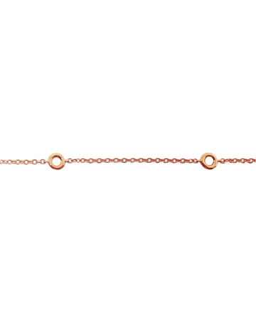 Picture of 14K Rose Gold Bezel set diamond chain 0.8/ 0.10 ct.