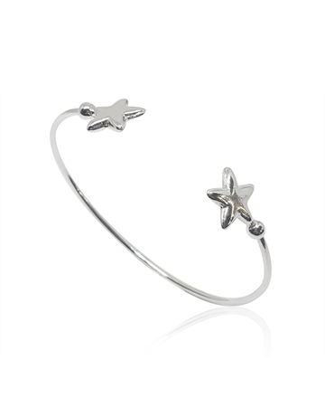 Picture of Sterling Silver Bangle With Stars