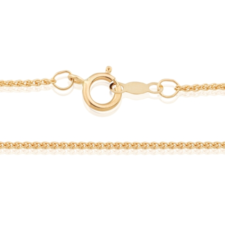 """Picture of 18K Yellow Gold 1.05mm 18"""" (45cm) Spiga Chain"""