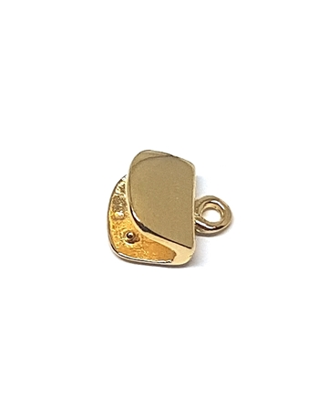 Picture of END cap 7MM  14K 5% GOLD MOON SHAPE