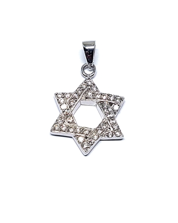 Picture of Sterling Silver 20x17mm Magen David Star Pendant