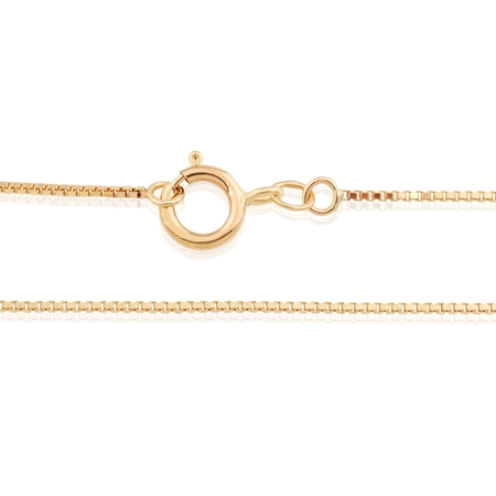 "Picture of 14KY 0.65mm Venetian Box chain 18"" (45cm)"