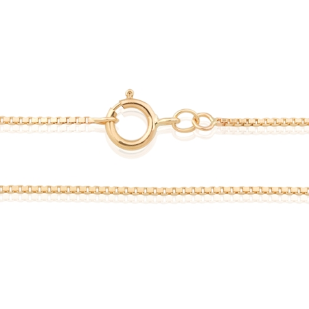 "Picture of 14KY 0.75mm Venetian Box chain 18"" (45cm)"