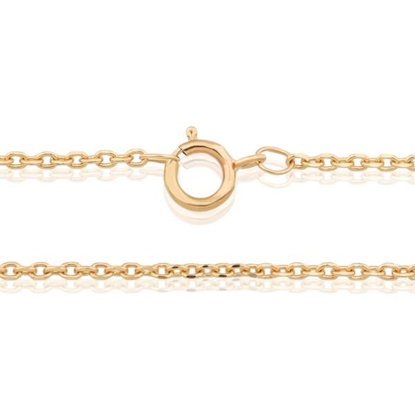 """תמונה של  שרשרת חוליות בחיתוך יהלום 1.24ממ, 42 ס""""מ זהב צהוב 14 קראט"""