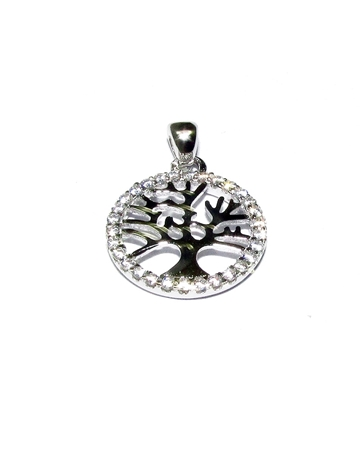 Picture of Sterling Silver C'z Life Tree Pendant
