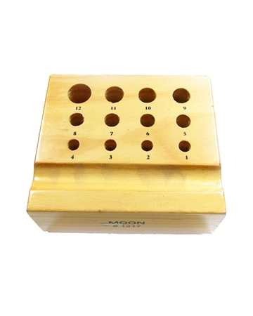 Picture of Wooden Box For Dapping Punches 12 Holes