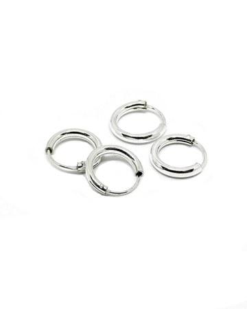 Picture of Sterling Silver Tube Hoop Earring 12mm