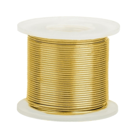 Picture of 14K Yellow Gold Round Wire 0.5mm/24 gauge