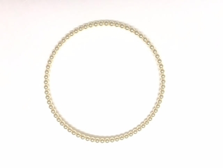Picture of Yellow Gold Filled 2.5mm Beaded Wire Bracelet