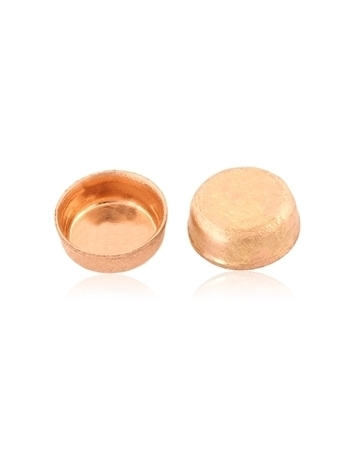 Picture of 9K Rose gold Round bezel cup 3mm