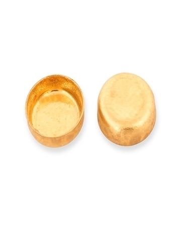 Picture of 9KY Gold Oval bezel Cup 6X8mm