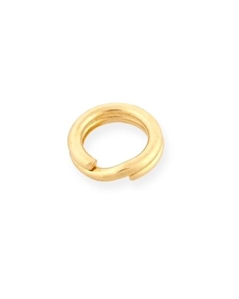 """תמונה של לולאת חיבור כפולה 14K זהב צהוב 4.9 מ""""מ"""