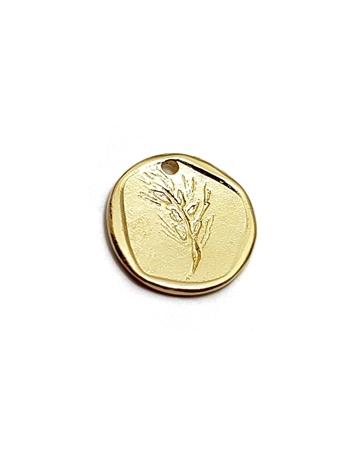 תמונה של תליון מצופה זהב  מטבע שעורה